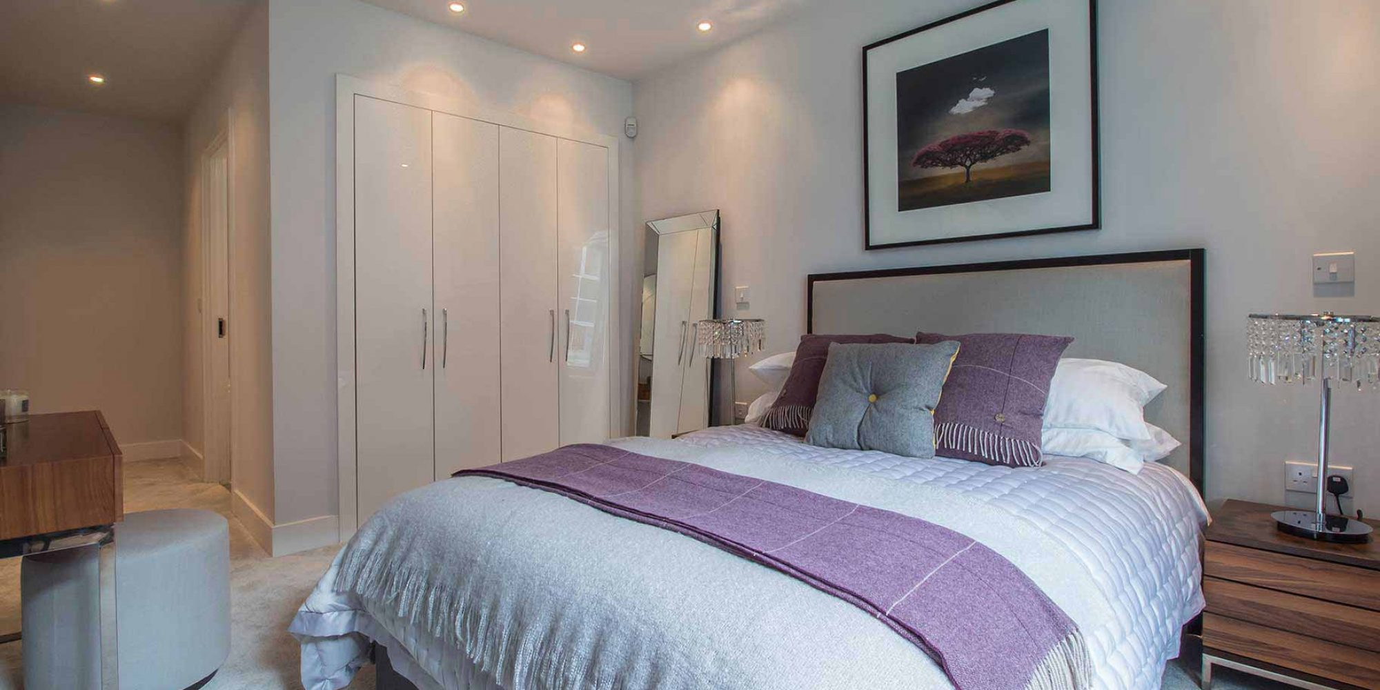 Bedroom with fitted wardrobes